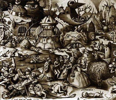 Фрагмент гравюры Питера Брейгеля «Гордыня»
