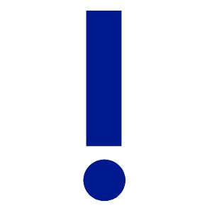 Восклицательный знак. Значение символа